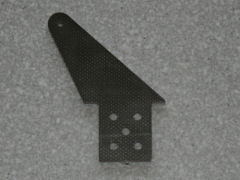 2 Ruderhörner RH55 in 2,00mm GFK schwarz
