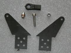 1 Kugelgelenk Ruderhorn RH55 M3 in 2,00mm GFK schwarz