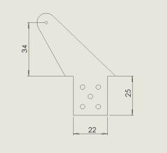 1 Kugelgelenk Ruderhorn RH65 M3 in 2,00mm GFK