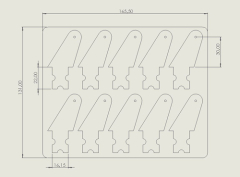 10 Ruderhörner 30 mm aus 1,5 mm CFK
