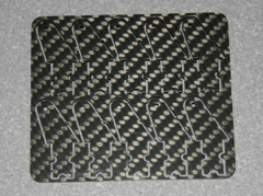 10 Ruderhörner 13 mm aus 1 mm CFK
