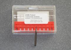 VHM-Fräser 1-Schneider 0,80mm