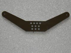 1 Seitenruderhebel SRH105 in 2,00mm GFK schwarz
