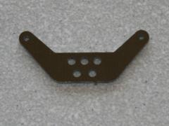 1 Seitenruderhebel SRH45 in 2,00mm GFK schwarz
