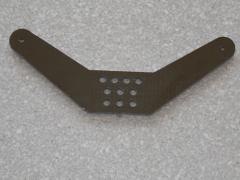 1 Seitenruderhebel SRH85 in 2,00mm GFK schwarz