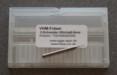VHM-Fräser 2-Schneider (Stirn) Ø 0.80mm