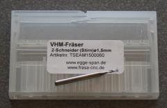 VHM-Fräser 2-Schneider (Stirn) Ø 1.50mm