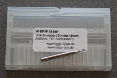VHM-Fräser 2-Schneider (Stirn) Ø 1.60mm