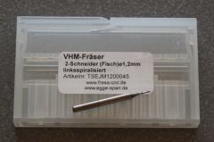 VHM-Fräser 2-Schneider (Stirn)  Ø 1.20mm linksspiralisiert