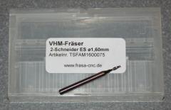 VHM-Fräser 2-Schneider ES  Ø 1.60mm