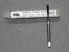 HSS-E, M3 Gewindebohrer ISO Gewinde DIN 13  für Kupfer, Kunststoff und GFK / CFK