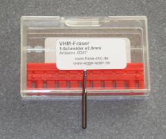 VHM-Fräser 1-Schneider 2,50mm