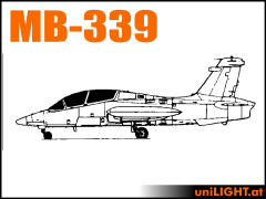Beleuchtung für die Aermacchi MB-339 1:4 und ähnliche Modelle...