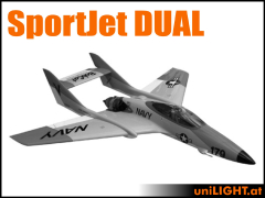 SportJet DUAL Fuselage mit ca. 1,60 Meter Spannweite